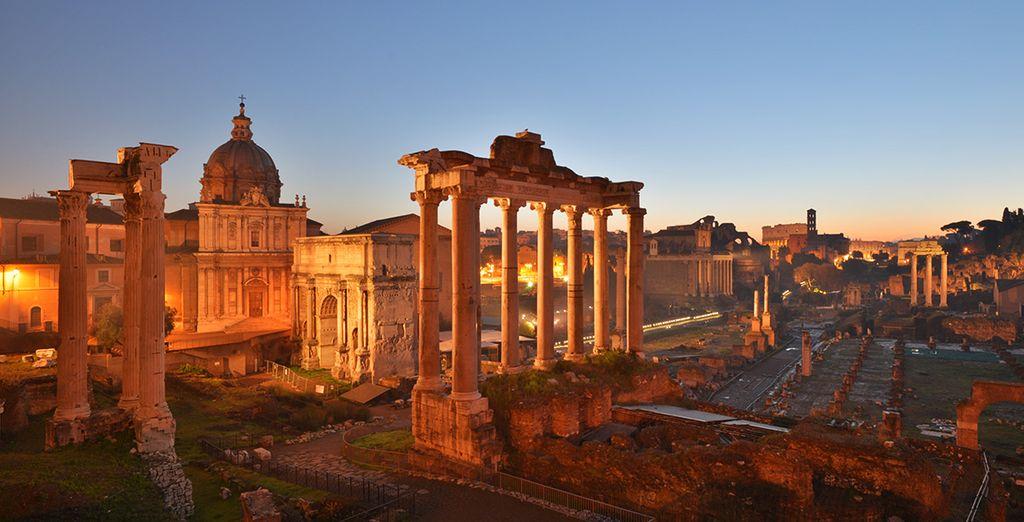 Visitez les plus beaux monuments de la capitale italienne