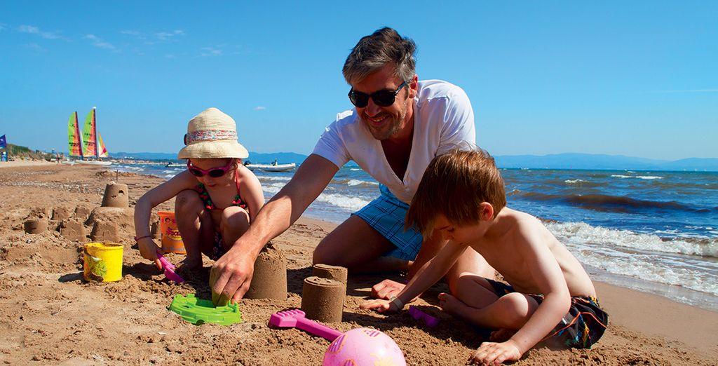 ou sur la plage. Bonnes vacances en famille !