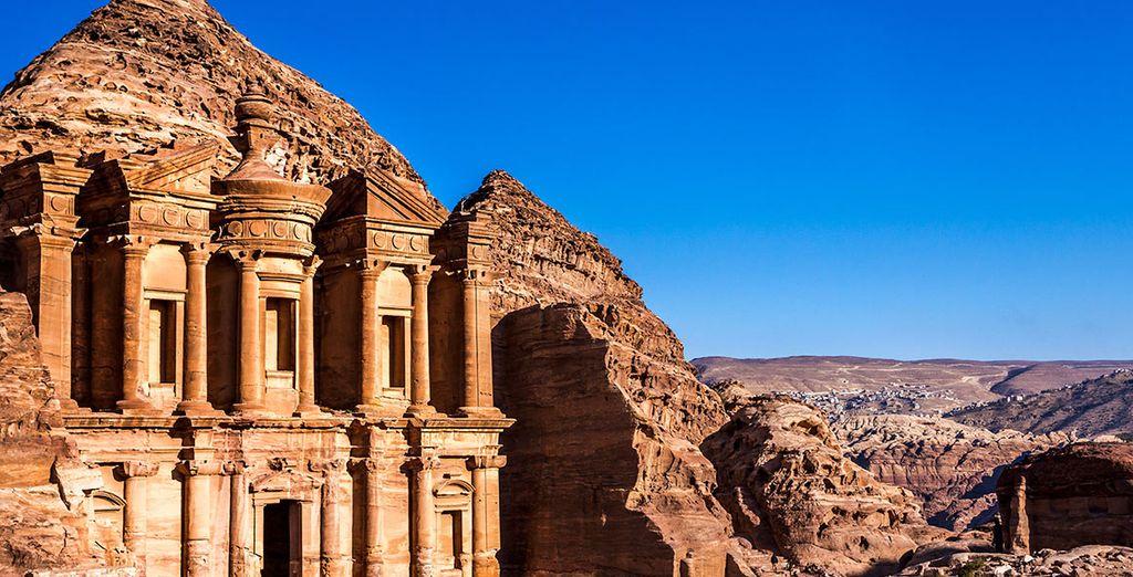 Photographie du temple de Khazneh en Jordanie