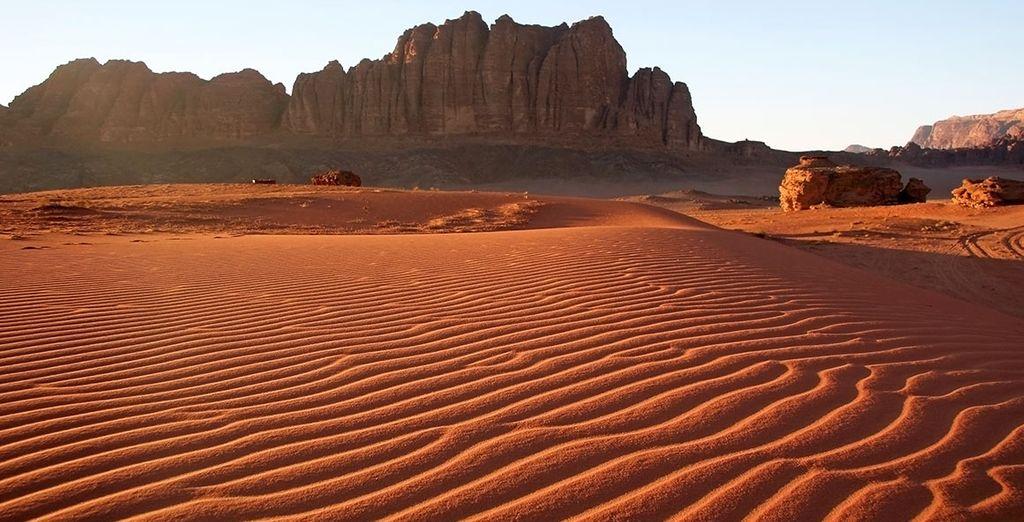 Photographie du désert de Wadi Rum en Jordanie