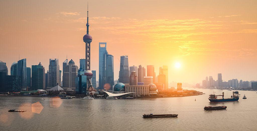 Panorama sur la ville de Shanghai en Chine