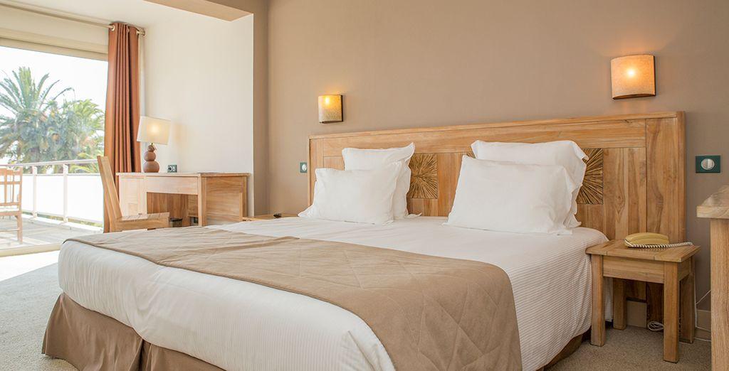 Hôtel de charme et chambres spacieuses tout confort avec lit double