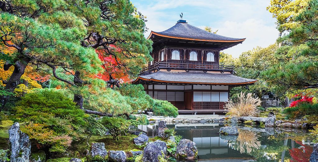 Photographie d'un temple bouddhiste au Japon