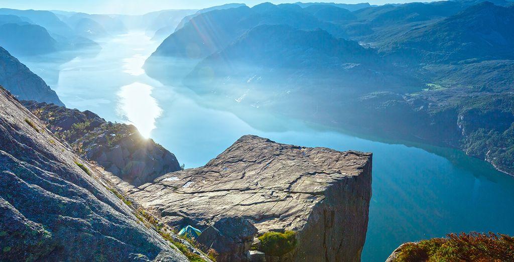Photographie d'un fjord en Norvège lors d'un périple à Oslo avec Voyage Privé