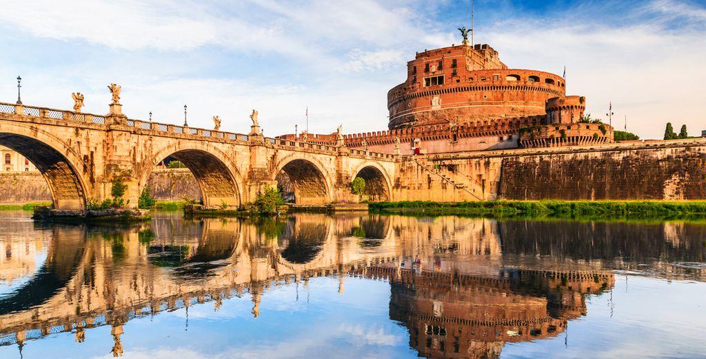 Photographie du château St Angel à Rome
