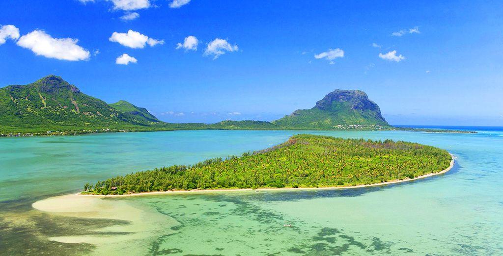 Paysage de l'île Maurice et ses parcs naturels verdoyants