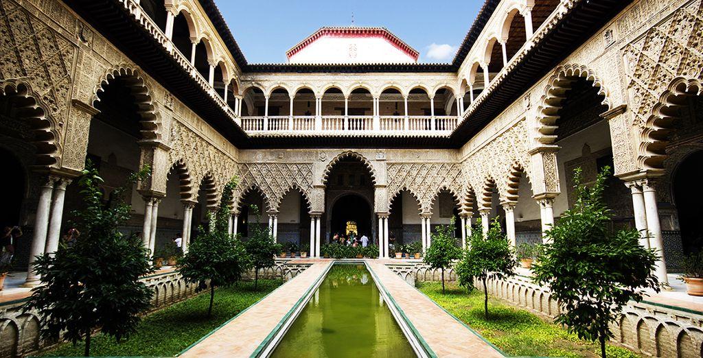 Photographie du Palais d'Alcazar de Séville en Andalousie