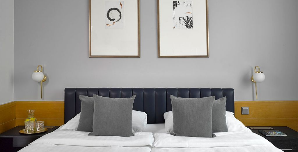 Hôtel de luxe avec chambre double tout confort