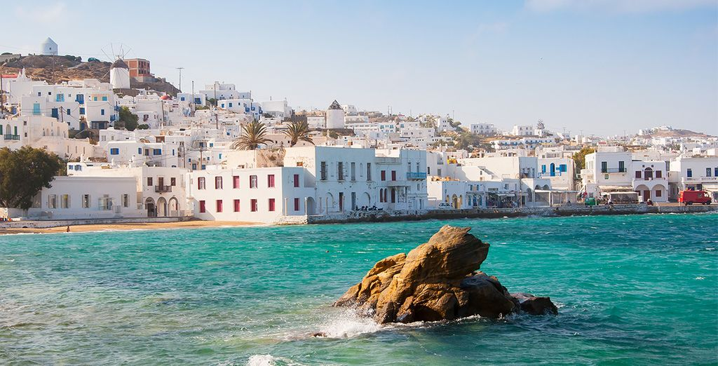 Combiné Cyclades 4 îles Santorin, Naxos, Syros, Mykonos - en hôtels 4*