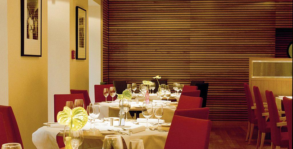 Vous serez indéniablement séduit par la cuisine fine du restaurant de l'hôtel