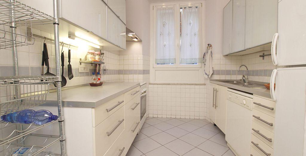 Votre cuisine spacieuse ...