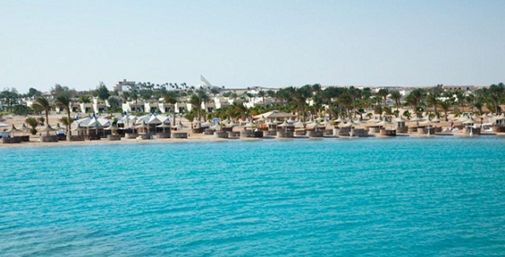 Le resort vue de la mer Rouge