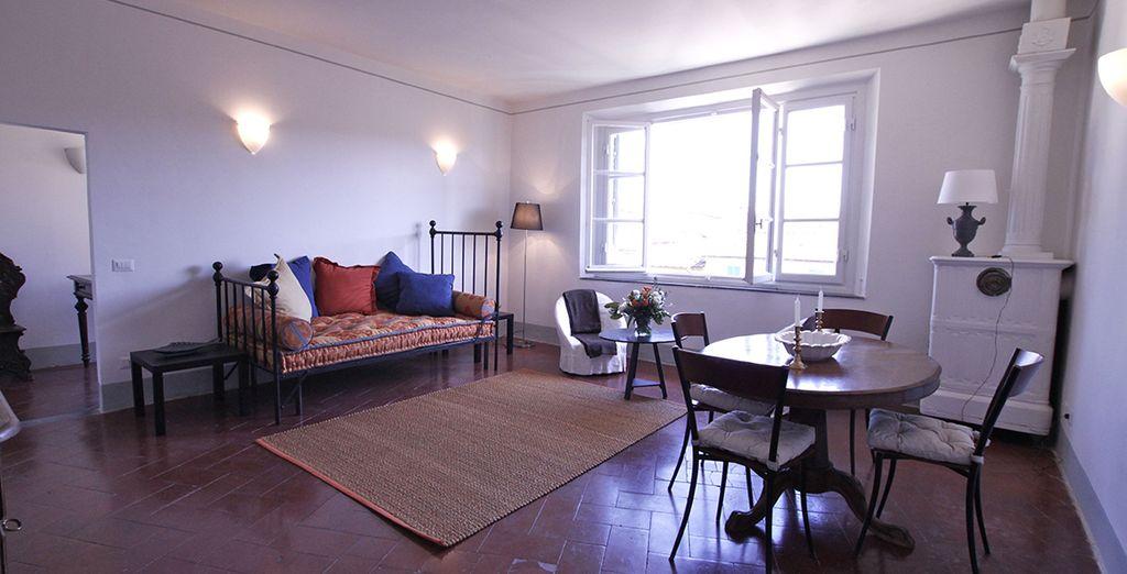 Un salon spacieux et cosy