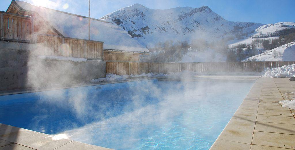 La piscine extérieure chauffée sera un délice
