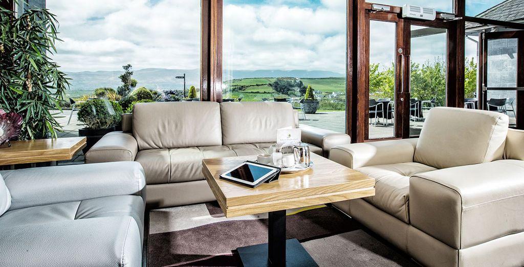 Hôtel de luxe tout confort avec panorama sur les montagnes et plaines Irlandaise