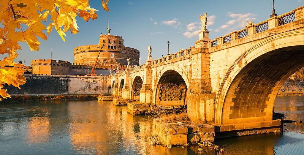 Prenez la direction de la capitale italienne.