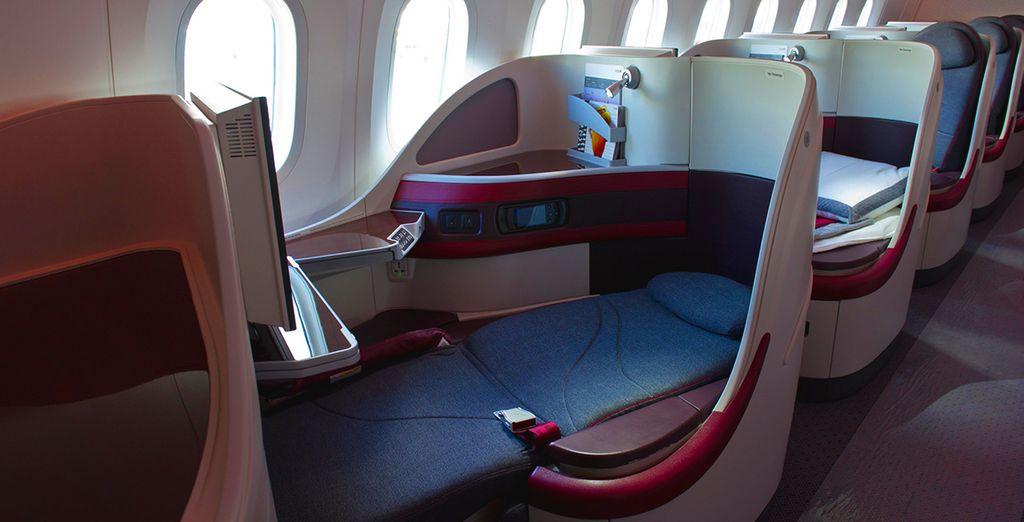 Et d'un confort de vol exceptionnel !