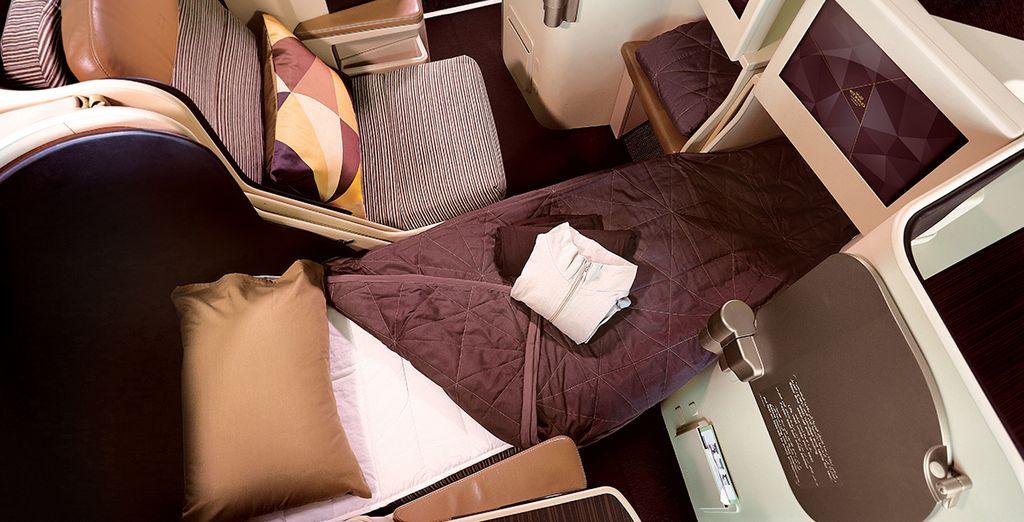 Voyagez dans le confort absolu de la classe Affaires