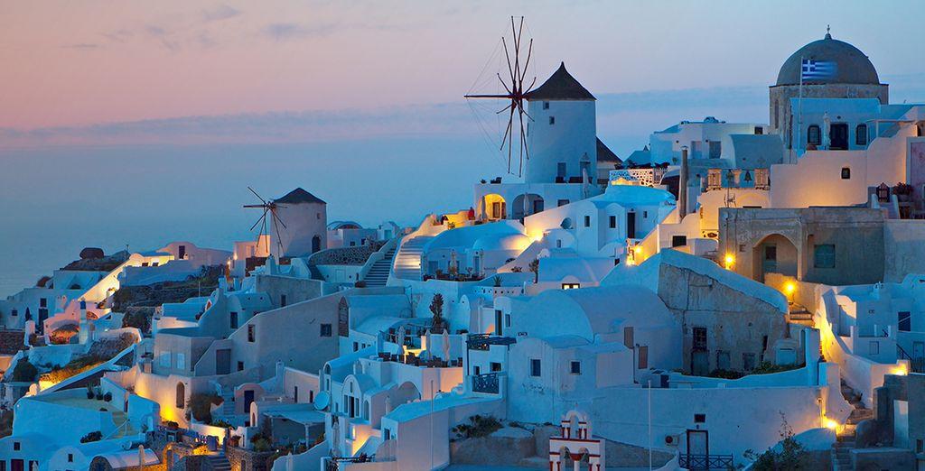 Le soir venu, l'île de pare de 1000 couleurs...