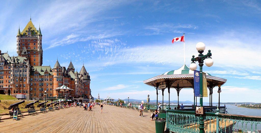 Montez jusqu'à Québec, l'unique cité fortifiée en Amérique du Nord