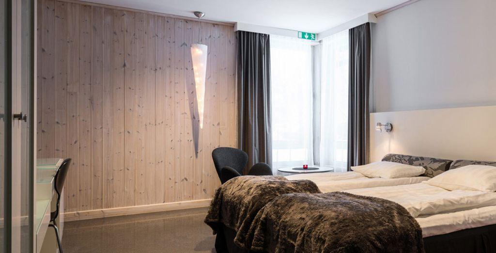 Votre première nuit àl'Ice Hotel se fera en chambre Kaamos - Combiné Campement & Ice Hotel Jukkasjärvi