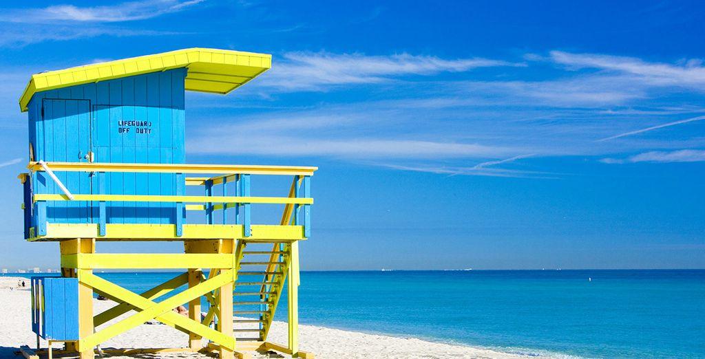 Aux portes de votre hôtel, foulez le sable de South Beach