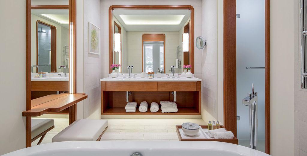 Et sa salle de bain bien équipée