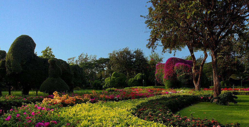 Vous pourrez arpenter les jardins luxuriants de l'hôtel