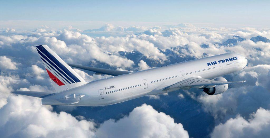 Vous pourrez même choisir de vous envoler avec Air France pour un vol direct depuis Paris