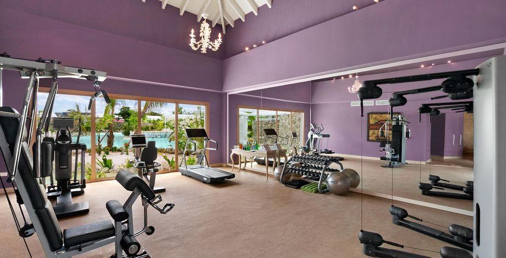 Une salle de fitness est également mise à disposition