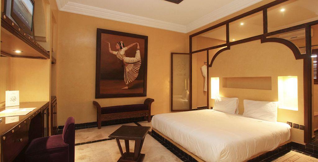 Vous apprécierez le confort de votre chambre Supérieure au charme oriental