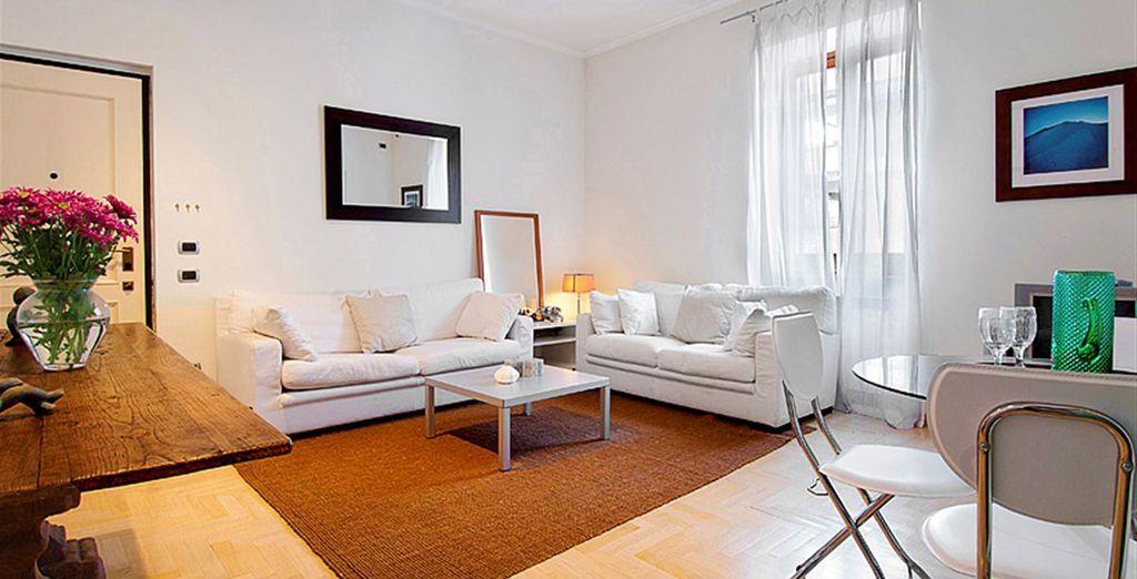 Appartement 1: Le salon / salle-à-manger