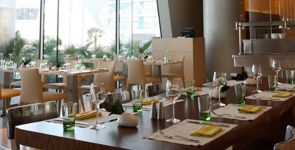 A la table du restaurant