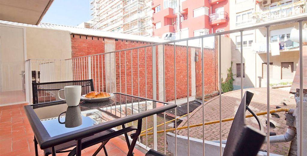 Appartement 2 : La balcon