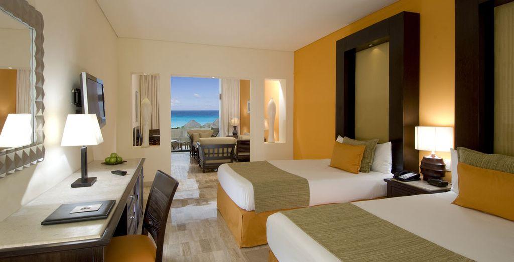 Confortablement installé dans la Suite du Paradisus  Cancún le temps d'une ou trois nuits selon vos envies