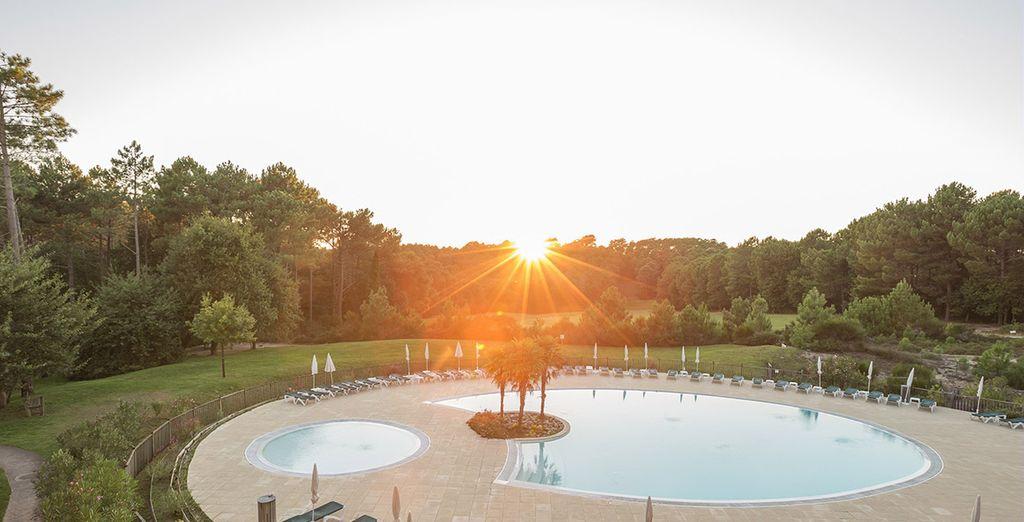 En fin de journée, la piscine de la résidence sera la bienvenue