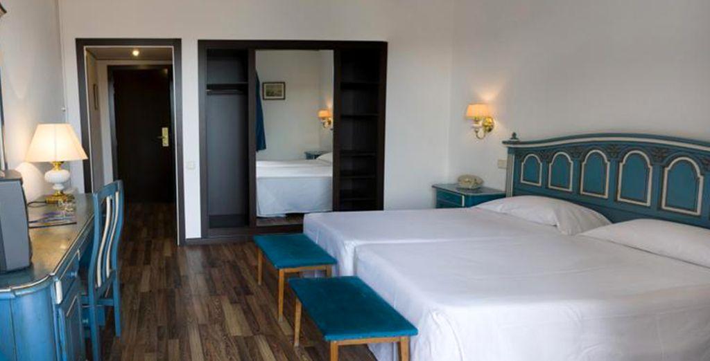 Mais aussi le confort et l'élégance de ses chambres...