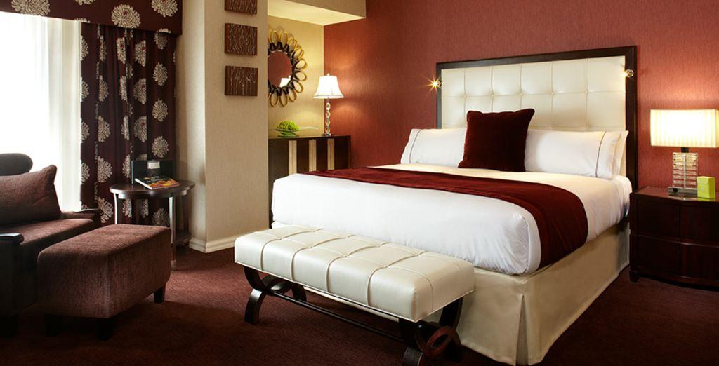 En chambre Standard, agréable avec ses couleurs chaudes