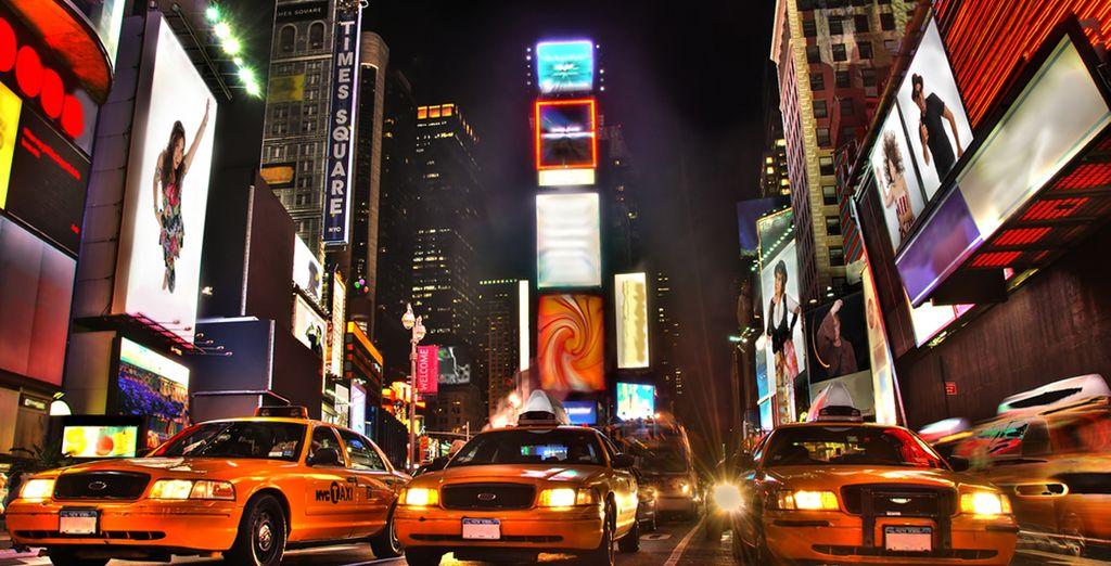 Plongez dans l'euphorie de Times Square