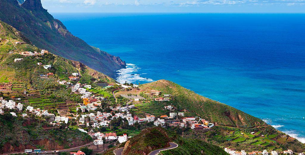 Paysage des Canaries avec vue sur la mer méditerranée