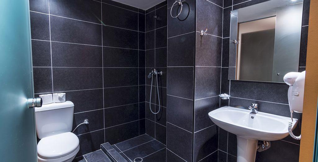 Et profiterez d'une salle de bains moderne
