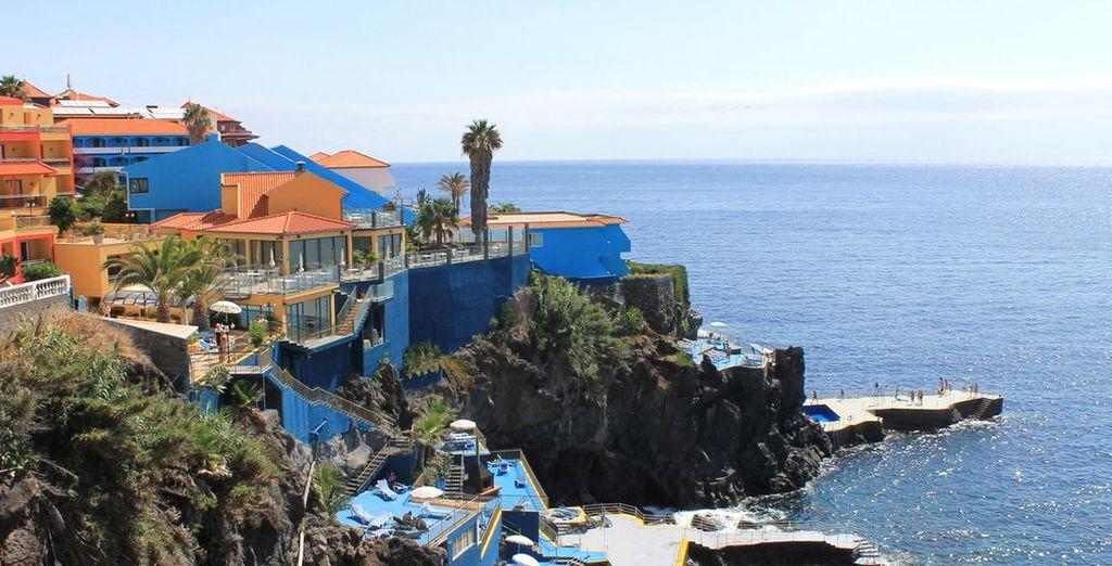 Le Cais da Oliveira vous attend au sommet d'une falaise surplombant l'océan