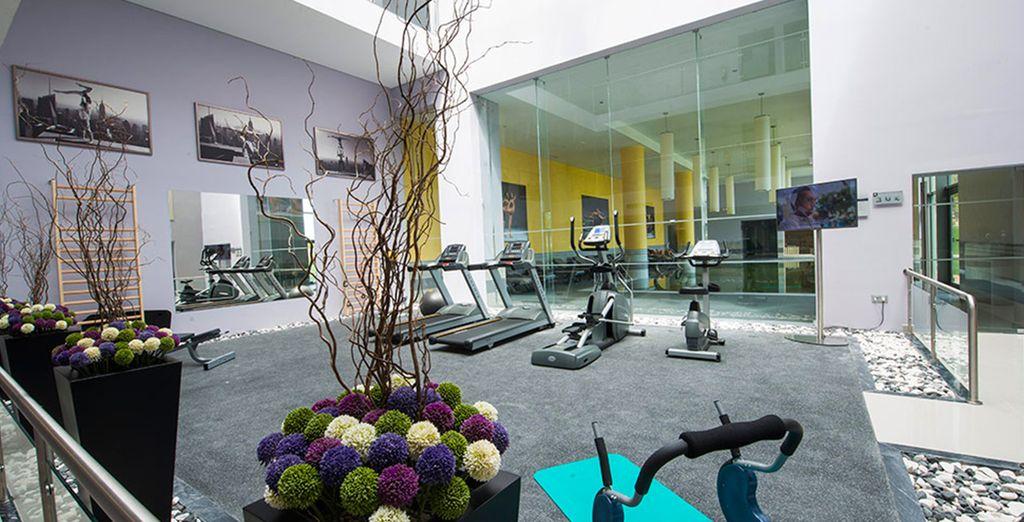 Les sportifs pourront aussi s'entraîner à la salle de fitness.
