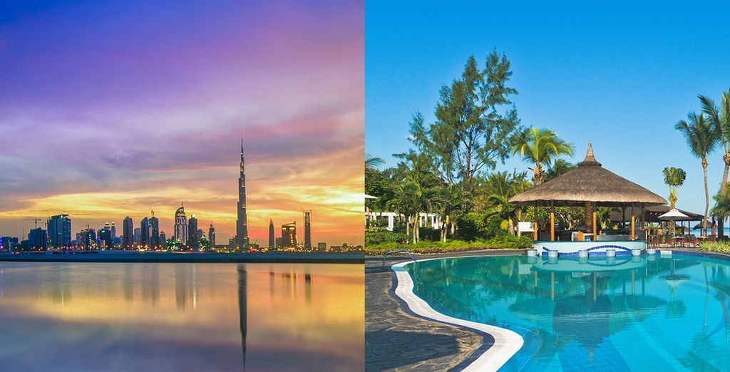 Du mirage futuriste de Dubai... A la beauté irréelle de l'Ile Maurice