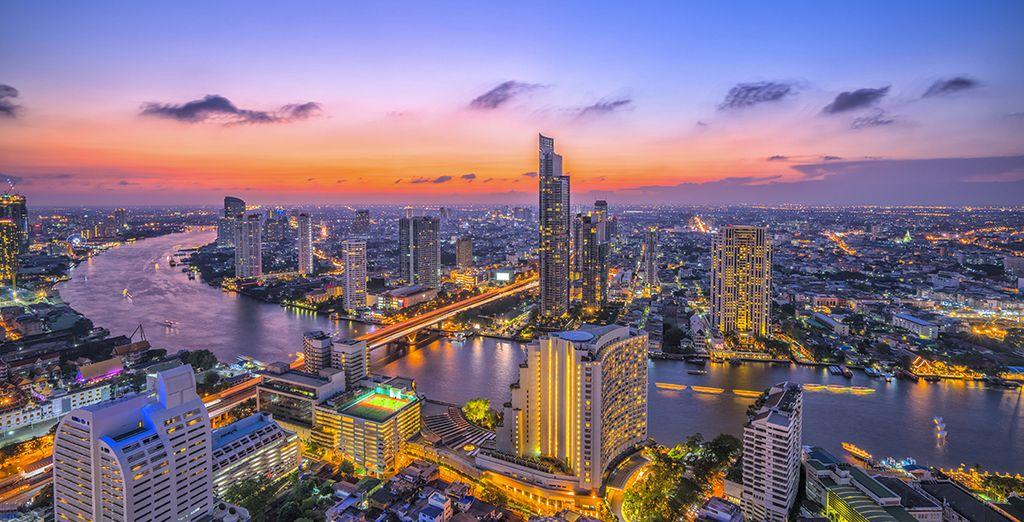 Photographie de la ville de Bangkok, capitale de la Thailande