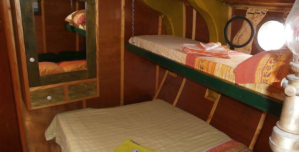 Vous séjournerez en cabine Standard