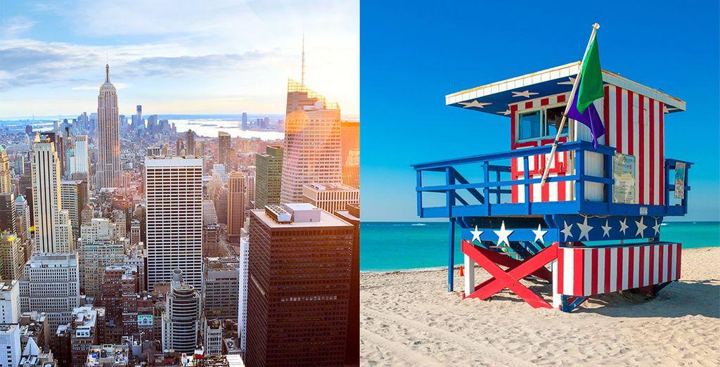 New York, Miami, Bahamas... Venez vivre vos rêves les plus fous !  - Combiné New York Miami et Croisière Bahamas  Miami