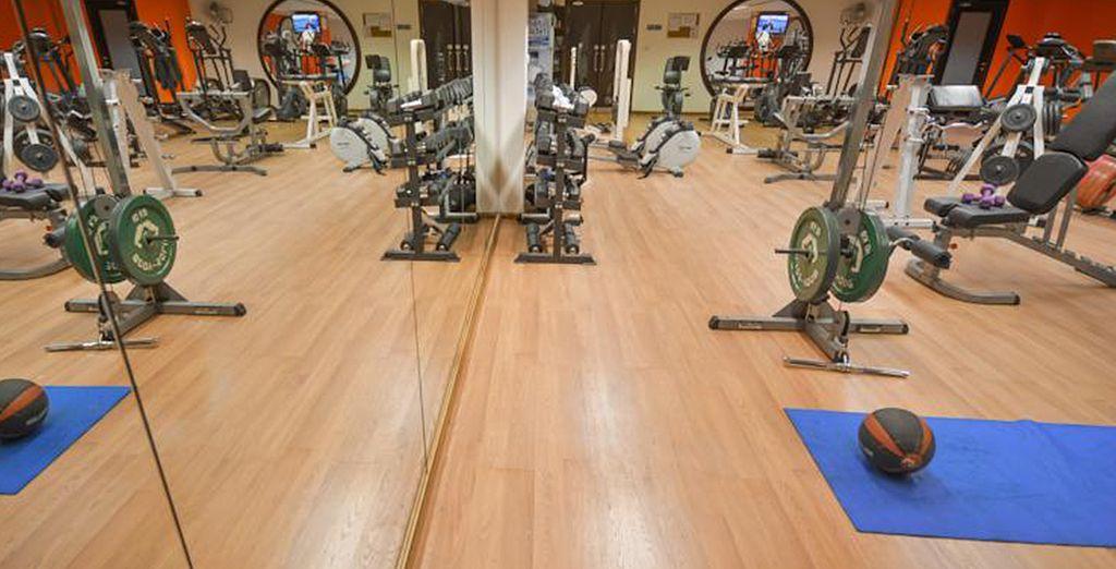 Vous pourrez vous adonner à quelques exercices à la salle de remise en forme