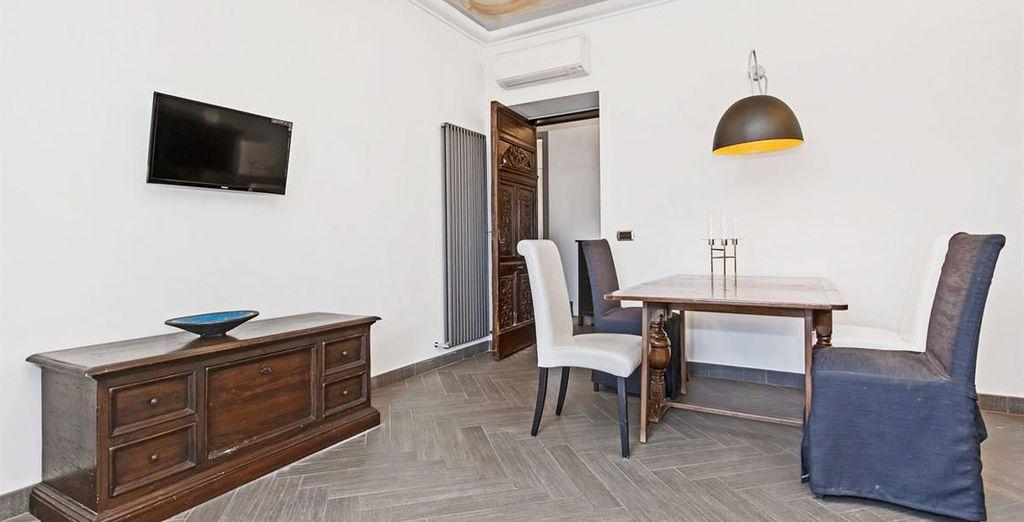 Appartement 2 : L'espace salle-à-manger