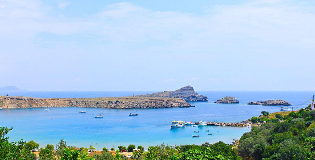 La baie de Lindos vous accueille pour un séjour hors du temps - Medblue Gennadi 4* Gennadi